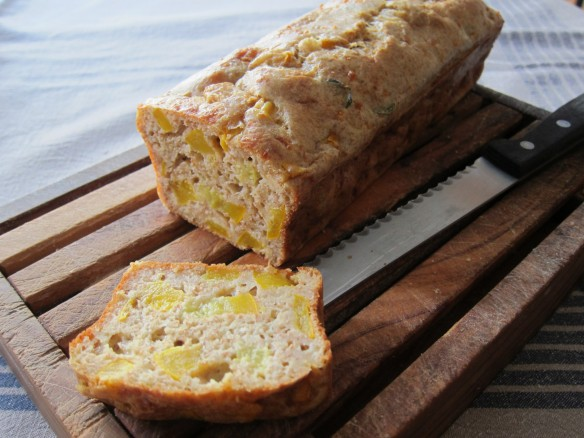 Yellow Courgette and Gruyère Savoury Cake