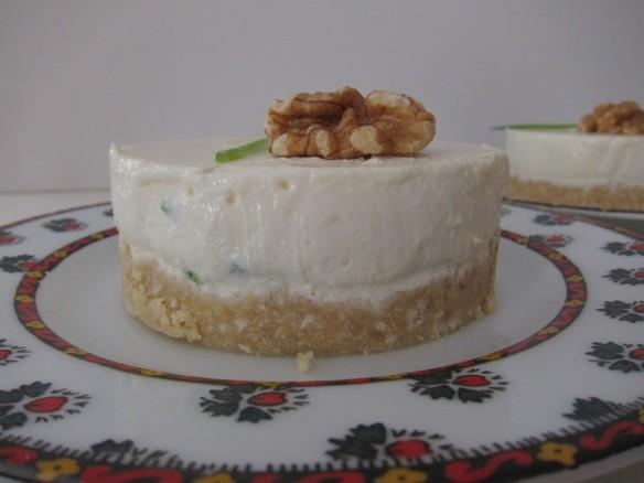 Garlic and Fresh Herbs Cheesecake