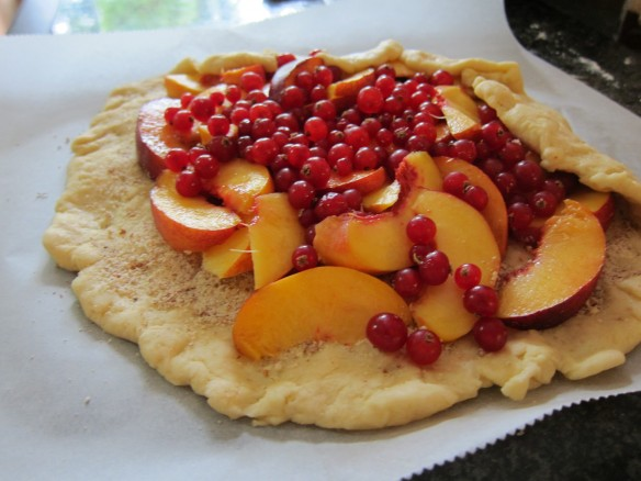 Nectarine and Red Currant Tart