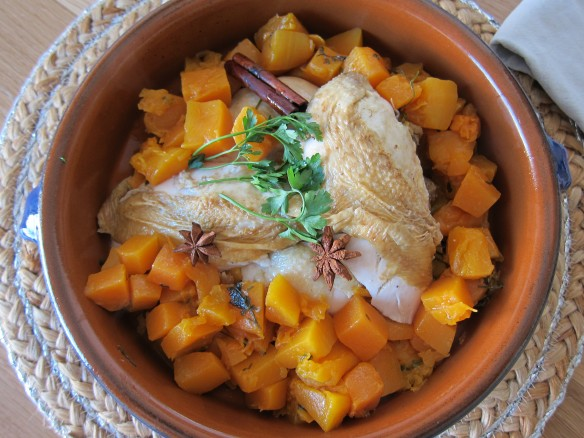 Chicken with Spices and Pumpkin Cubes