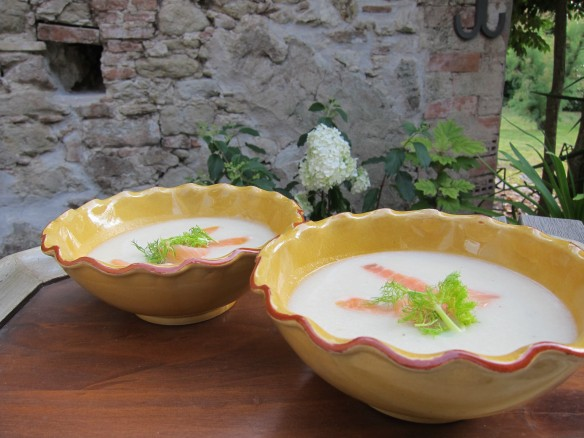 Fennel Soup with smoked Salmon