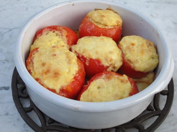 Tomatoes with Ricotta Cream